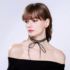 10Pcs Black Rope Choker Necklace