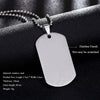 Image of Military Dog Tag Men's Stainless Steel Pendant