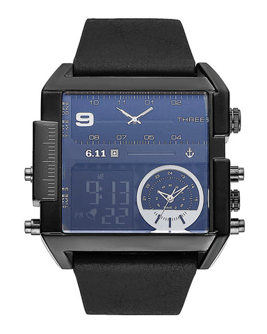 leather watches black products men digital square braun grande face band watch s design