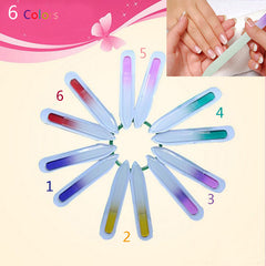 Small Professional Glass Buffer Durable Crystal Nail Art
