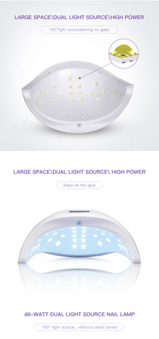 48W UV  Led Nail Lamp Dryer Cure