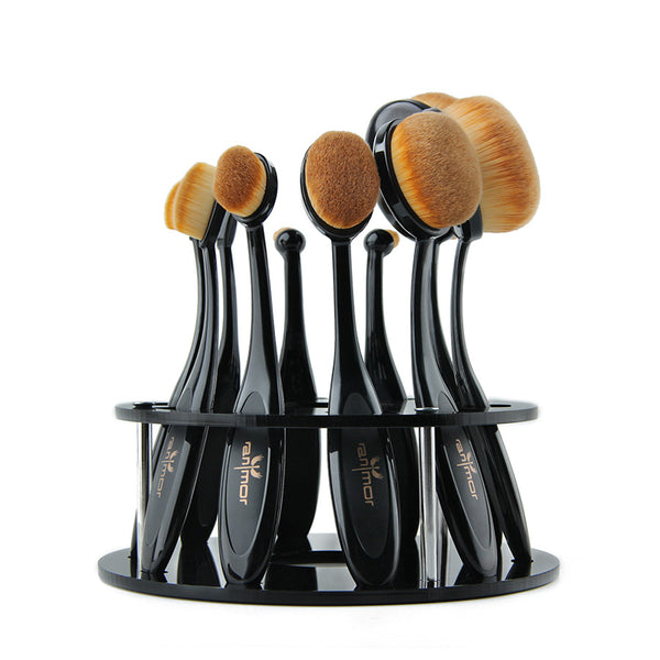 10pcs Oval Brush Set