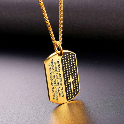Dog Tag Cross Necklaces & Pendant
