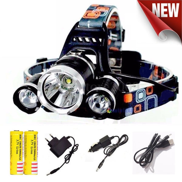 10000LM 1T6+2R5 Flashlight of Fishing Lantern Head Torch