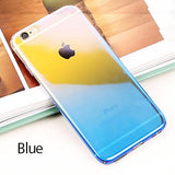 ZNP Cool Blue Ray Plastic Cover Cases For iPhone 7 6 6s Case 5 5s SE Phone Cover For iphone 7 6 6 Plus 7Plus Case Capa Coque