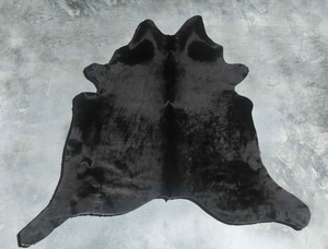 Black Luxurious Cow Hide