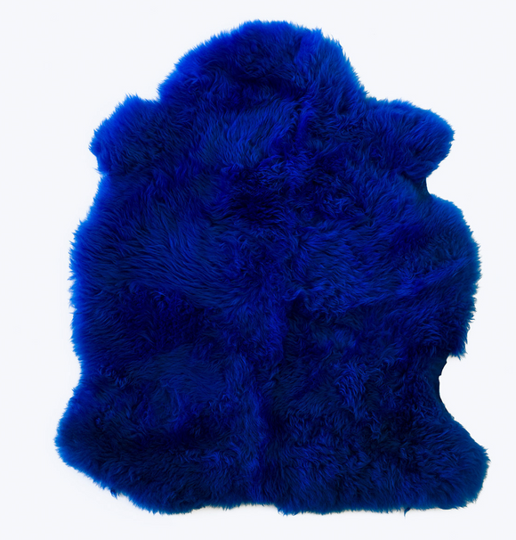 Electric Blue Sheepskin