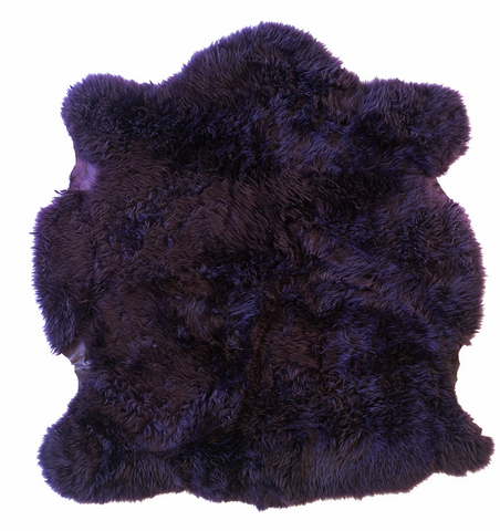 Dark Purple Sheepskin