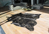 Black with Gold Metallic Speckles - Special Hide
