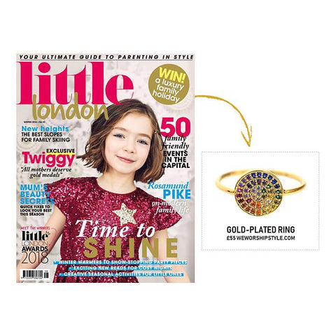 Little London Magazine featuring We Worship Style Gold Rainbow Ring