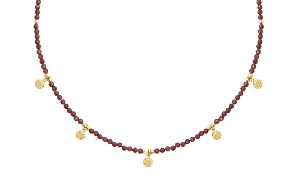 Garnet and Gold Choker Necklace