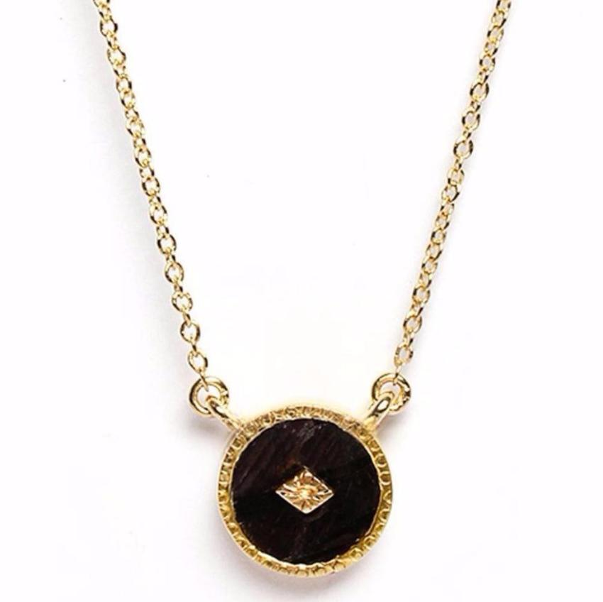 Gold Onyx Pendant Necklace