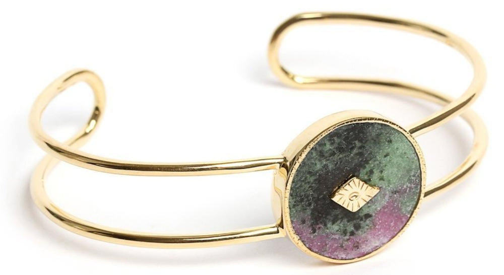 Gold Anyolite Double Bangle