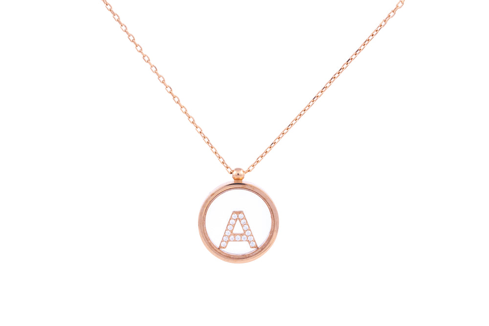 Rose Gold Alphabet Pendant