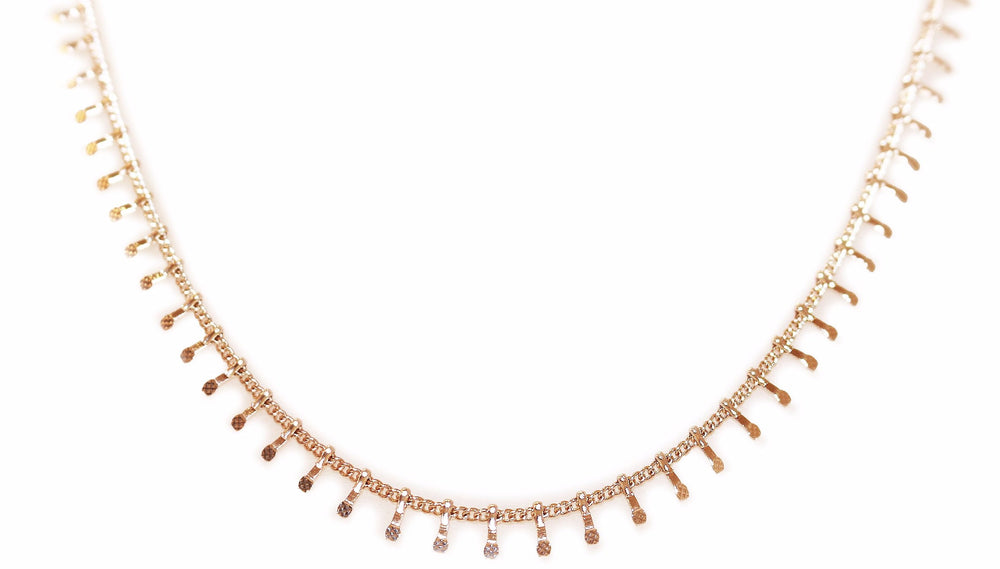 Rose Gold Centipede Necklace