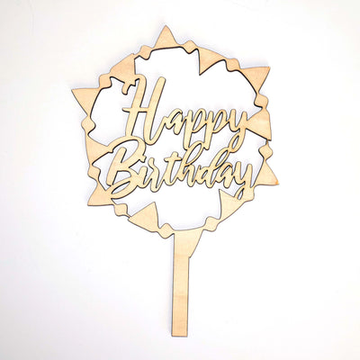 Happy Birthday Flags Cake Topper