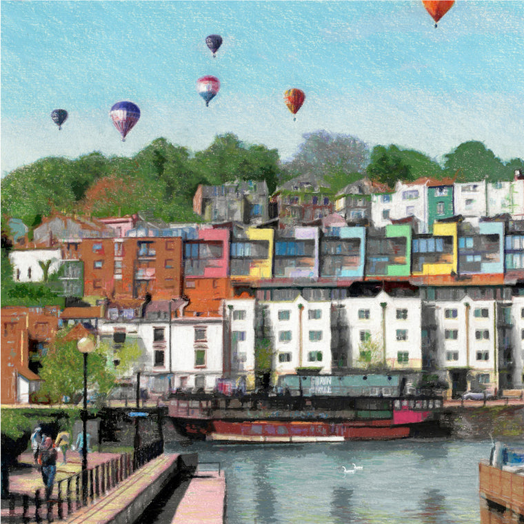 Harbourside Towards Cliftonwood Greetings Card - Mockingbird