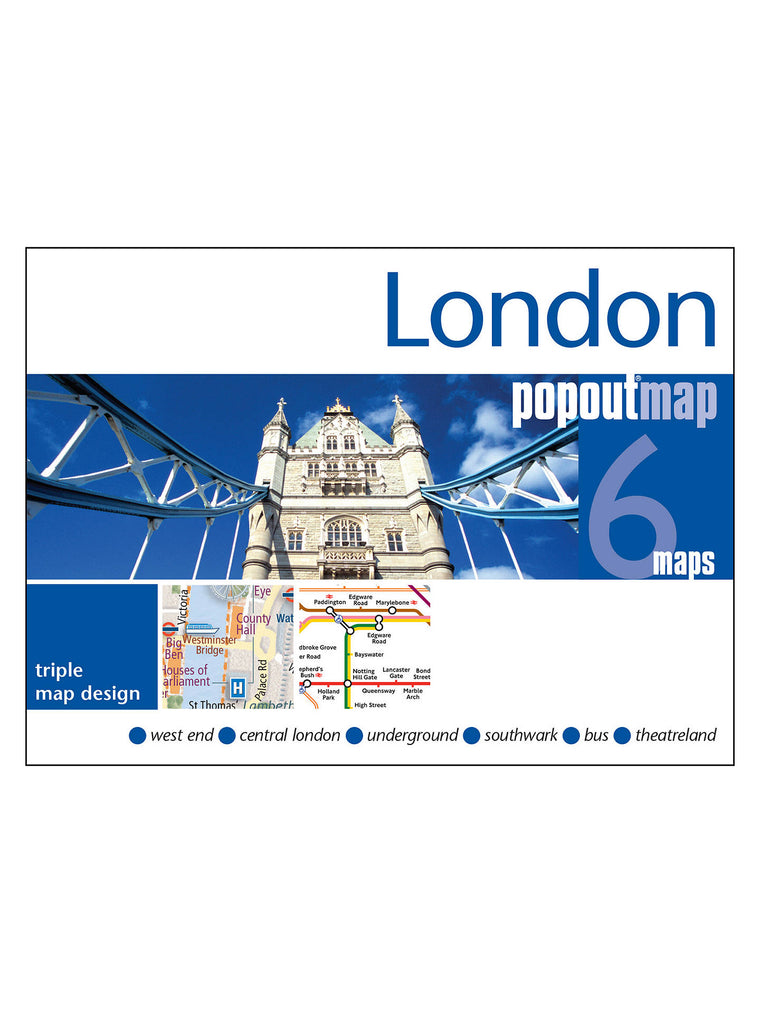London 6 Pop Out Maps