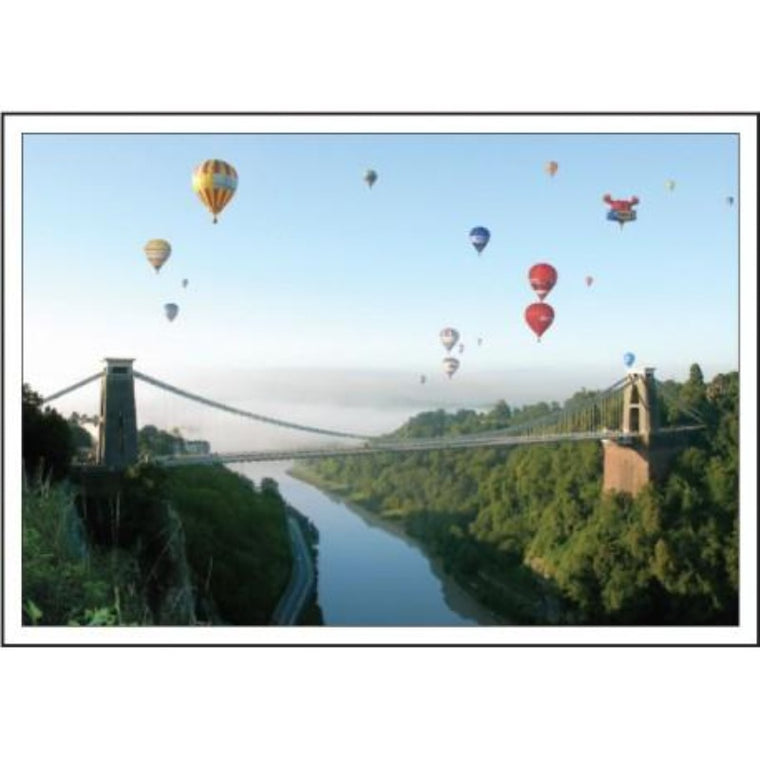 Large Bristol Suspension Bridge and Balloons Greetings Card