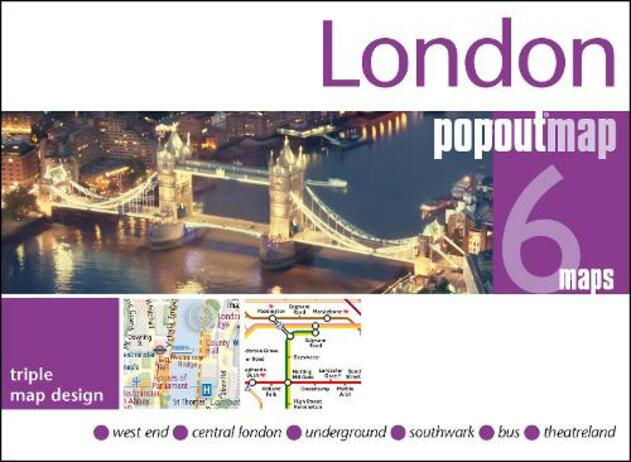 London PopOut Map: 3 PopOut maps in one handy, pocket-size format