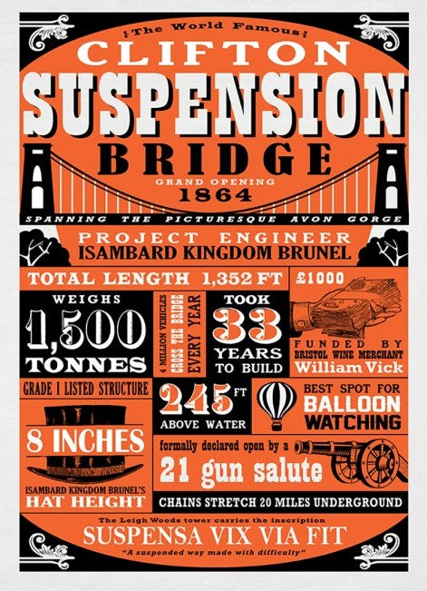 Clifton Suspension Bridge Tea Towel - Susan Taylor