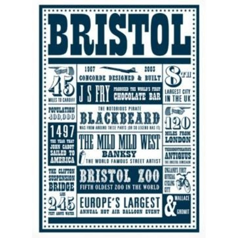 Bristol Facts postcard