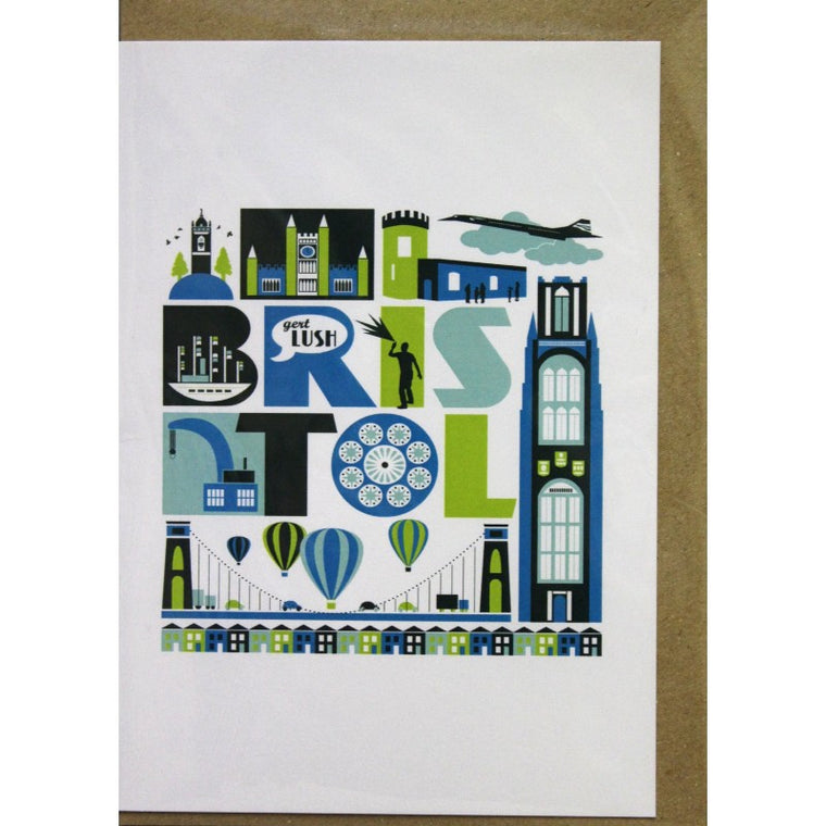 Bristol Icon Greeting Card - Susan Taylor