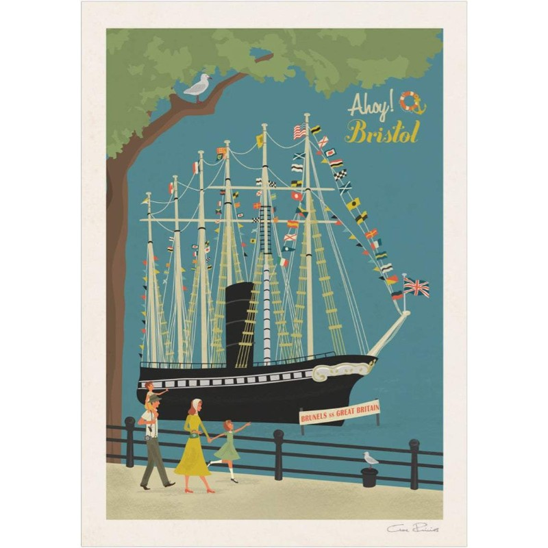 Bristol SS. Great Britain Art Print by Clare Phillips