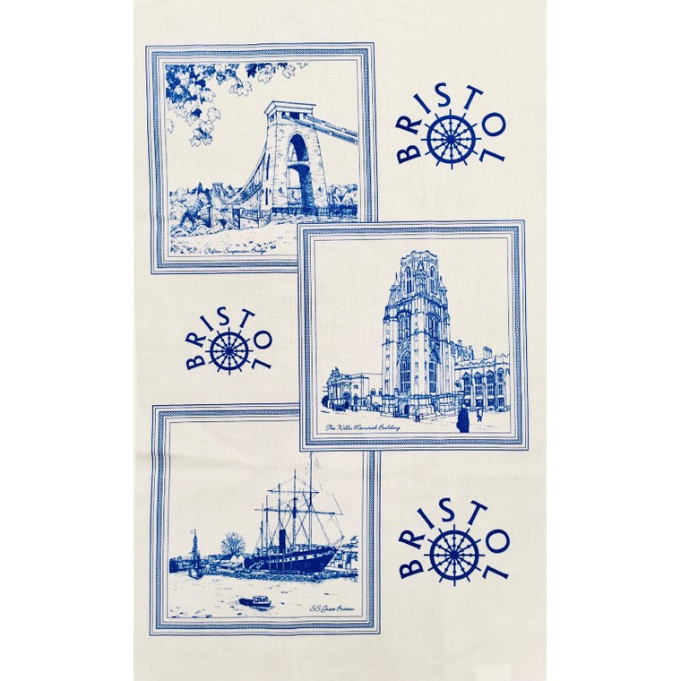 Bristol Tea Towel - Blue