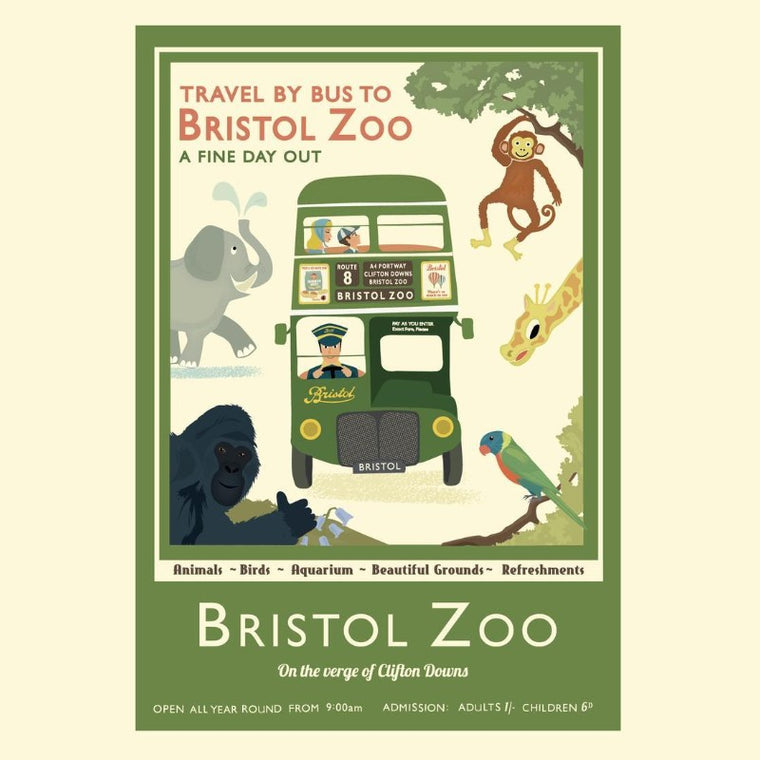 Bristol Zoo Art Print by Clare Phillips