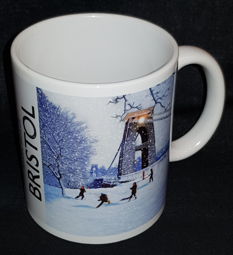 Snowballs by the Bridge Avon Gorge Ceramic Mug - Mockingbird