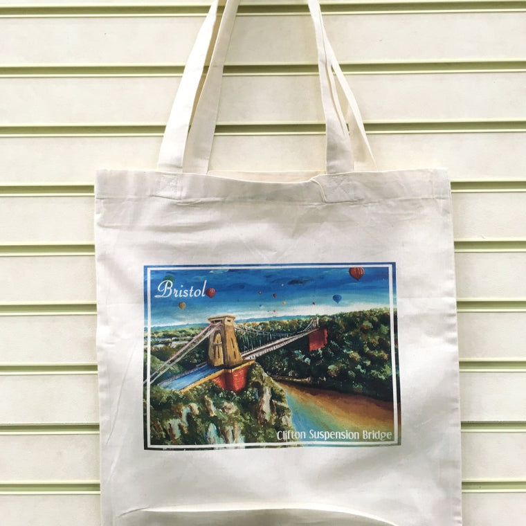 Diego Godoy Suspension Bridge Tote bag