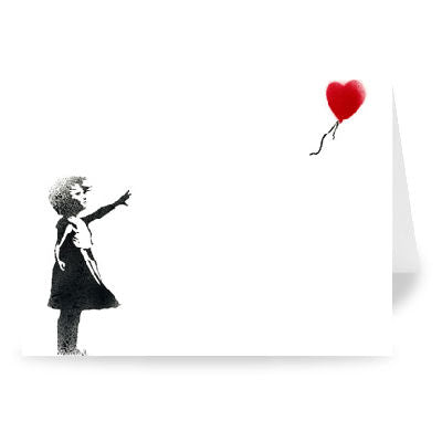 Banksy 'Heart Balloon' Greeting Card