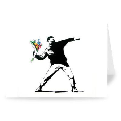 Flower Thrower Greeting Card