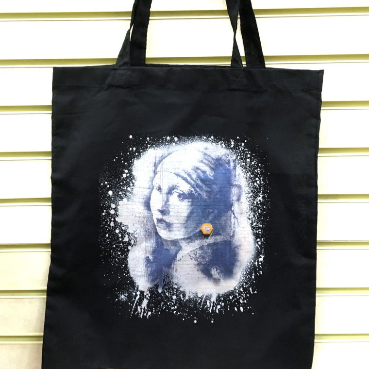 Girl with Pierced Eardrum Tote Bag