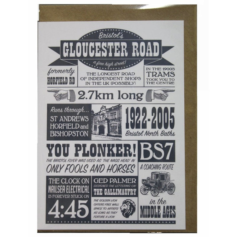Gloucester Road Greeting Card - Susan Taylor