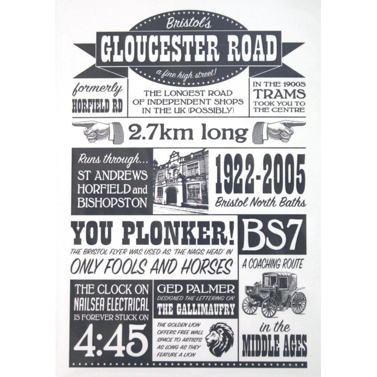 Gloucester Road Typography Print