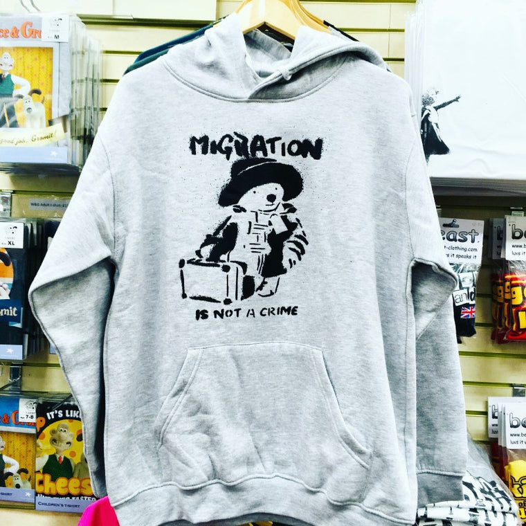 'Immigration is Not a Crime' Banksy Hoodie