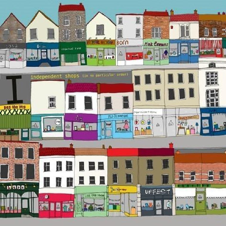 Independent Shops Print - Hannah Broadway