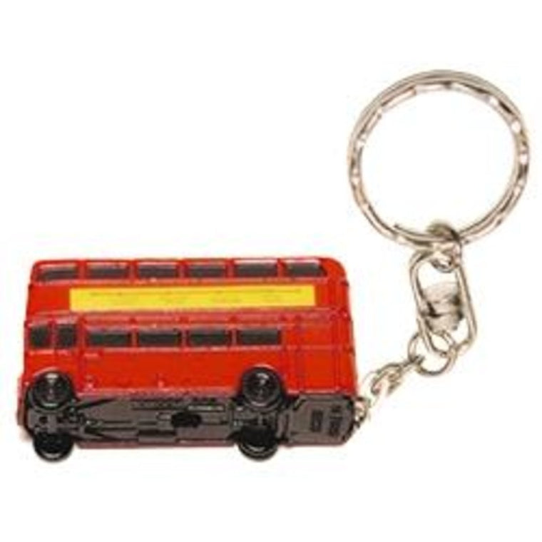 London Bus Metal Keyring