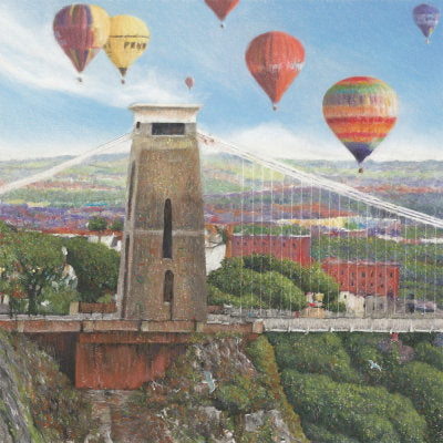 Balloon Fiesta Weekend Greetings Card - Mockingbird