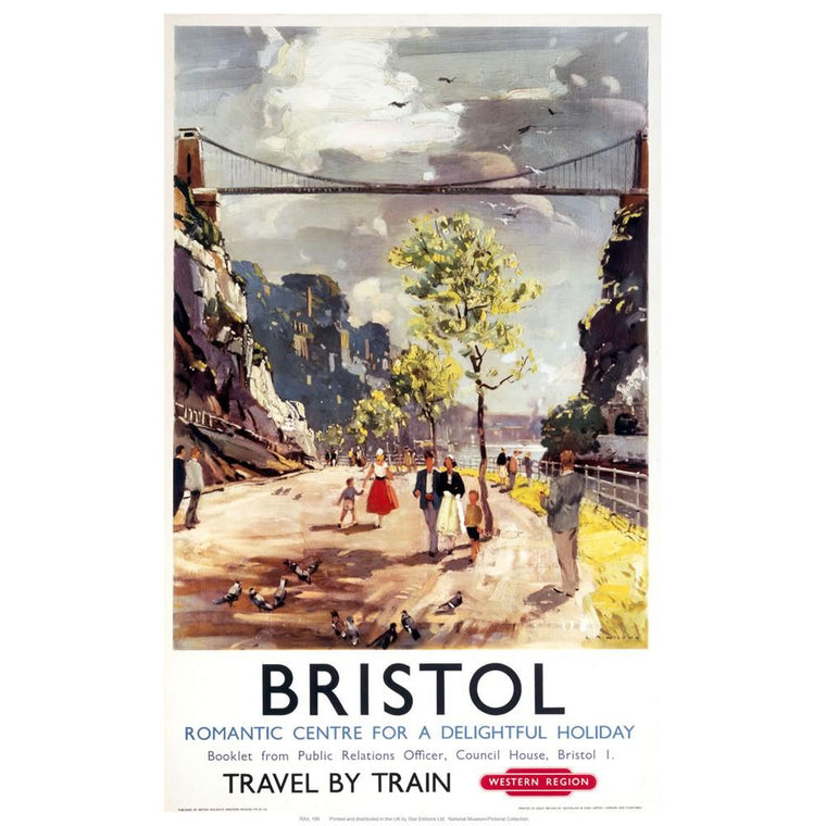 Romantic Bristol Tea Towel