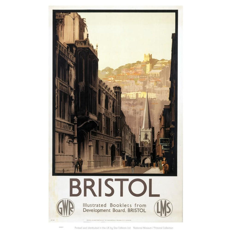 Bristol High Street Tea Towel