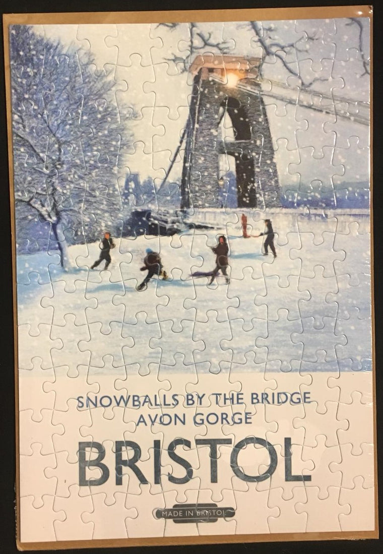 Snowballs by the Bridge Jigsaw