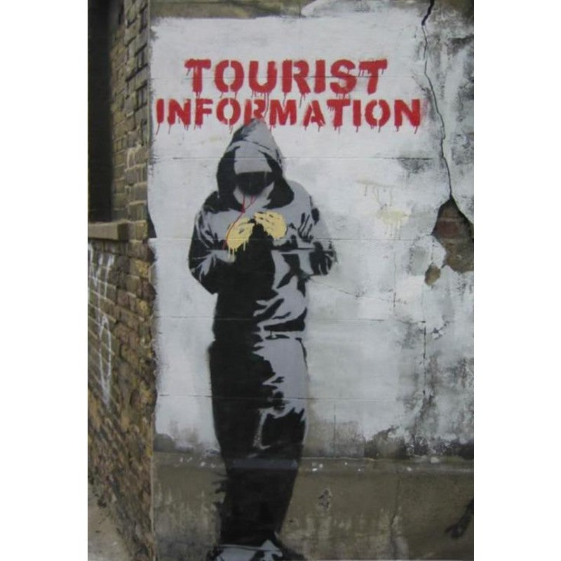 """Tourist Information"" Street Art Fridge Magnet"