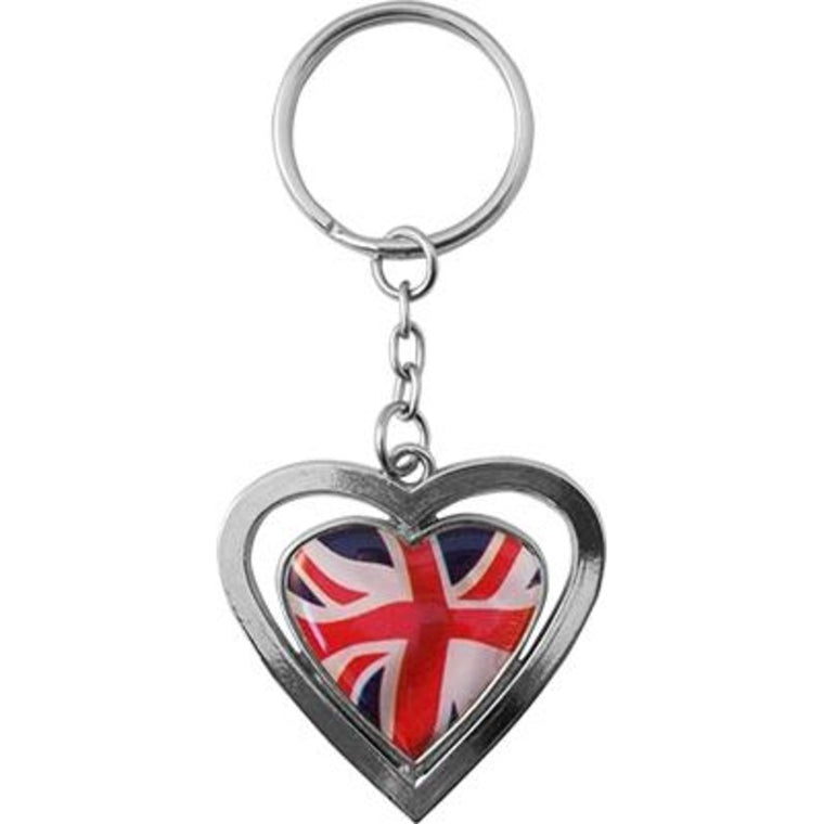 Union Jack Heart Keyring