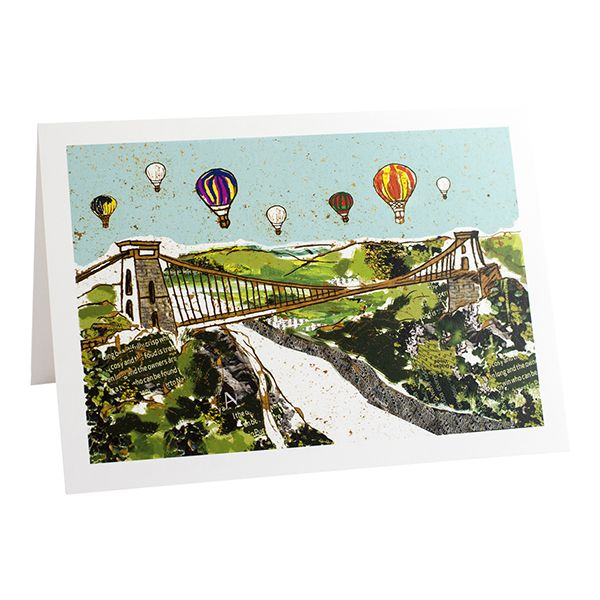 Balloons Over The Bridge Bristol Greeting Card - Emmeline Simpson