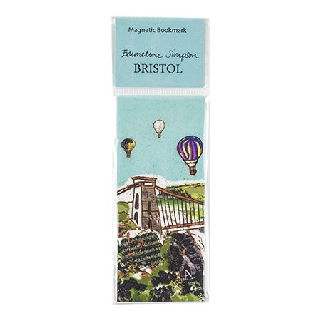 Balloons over Toll Bridge Magnetic Bookmark