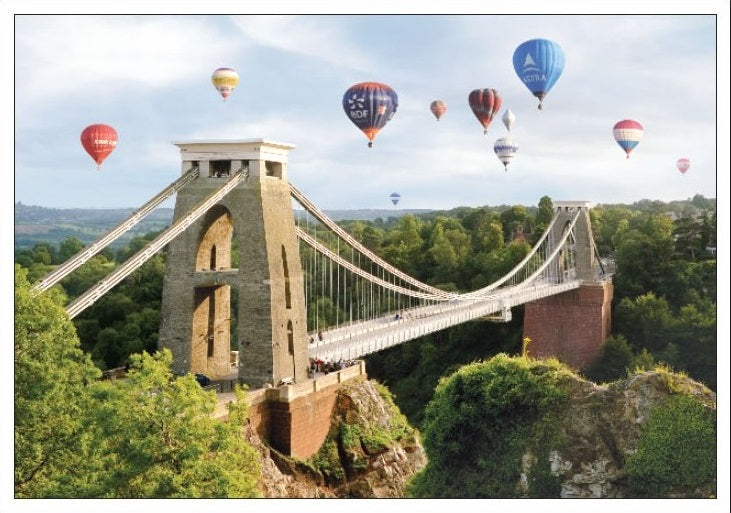Large Suspension Bridge Greeting Card