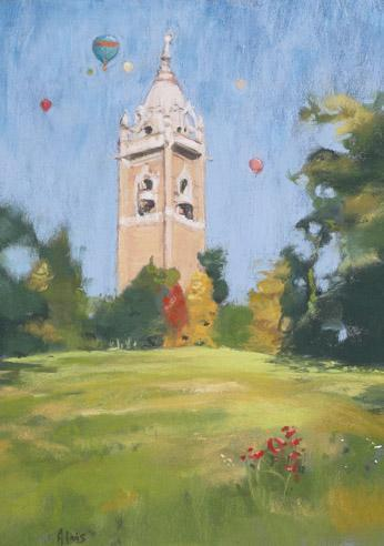 Cabot Tower Greeting Card - Linda Alvis